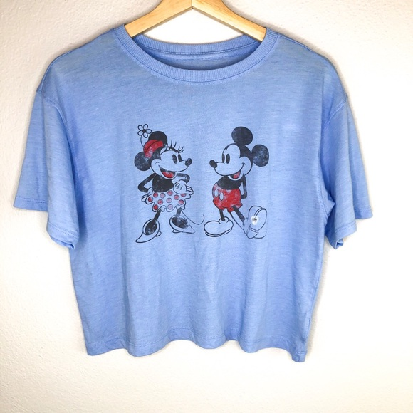 American Eagle Outfitters Tops - AMERICAN EAGLE DISNEY MINNIE & MICKEY CROP TOP